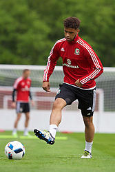 CARDIFF, WALES - Wednesday, June 1, 2016: Wales' Tyler Roberts during a training session at the Vale Resort Hotel ahead of the International Friendly match against Sweden. (Pic by David Rawcliffe/Propaganda)