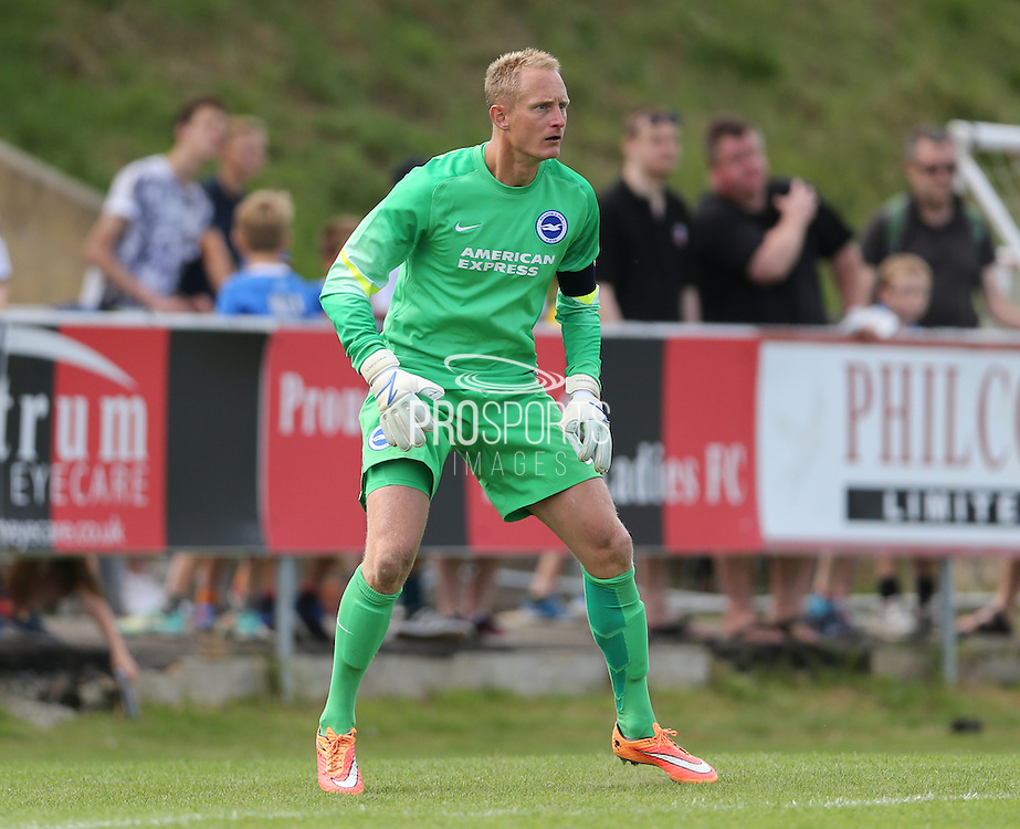 Casper Ankergren during the Pre-Season Friendly match between Lewes FC and Brighton and Hove Albion at the Dripping Pan, Lewes, United Kingdom on 18 July 2015.