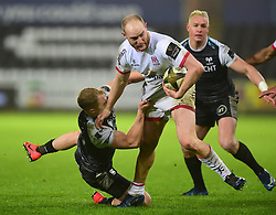 Matt Faddes of Ulster Rugby Guinness PRO14, Liberty Stadium, Swansea, UK 15/02/2020<br /> Ospreys vs Ulster Rugby<br /> <br /> Mandatory Credit ©INPHO/Alex James