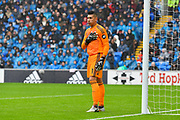 Neil Etheridge (1) of Cardiff City during the Premier League match between Cardiff City and Manchester City at the Cardiff City Stadium, Cardiff, Wales on 22 September 2018.