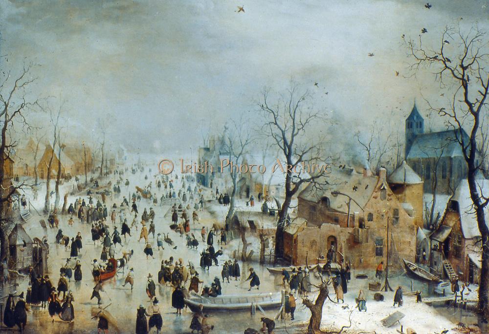 Winter scene. Hendrik Avercamp (1585-1634) Dutch artist.