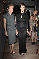 Left to right, JUSTINE PICARDIE and SASKIA de BRAUW at Harper's Bazaar & Viva Model Management London opening of a Self-Portraits exhibition at the Moretti Galery, Ryder Street, London on 3rd September 2013.