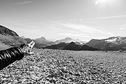 Trentino, Sass Pordoi, the alp Guide Marica Favè