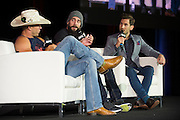 "LAS VEGAS, NV - JULY 10:  Donald ""Cowboy"" Cerrone, CM Punk and John Gooden speak during UFC Fan Expo Day 3 at the Las Vegas Convention Center on July 10, 2016 in Las Vegas, Nevada. (Photo by Cooper Neill/Zuffa LLC/Zuffa LLC via Getty Images) *** Local Caption *** Donald ""Cowboy"" Cerrone; CM Punk; John Gooden"