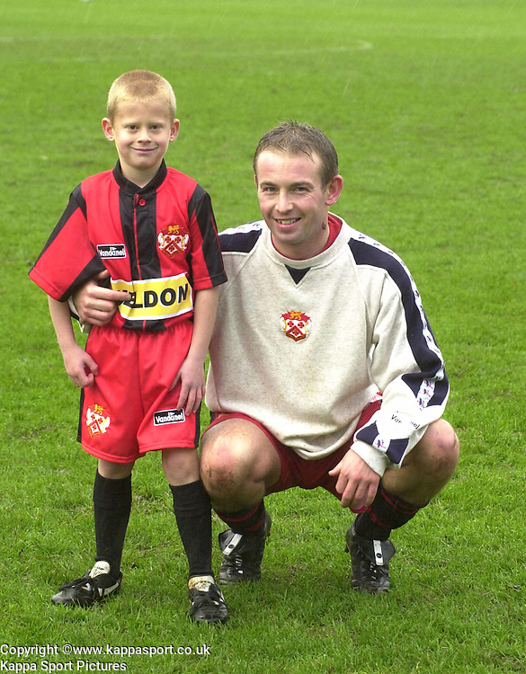 MASCOT WITH PHIL BROWN, Kettering Town v Northwich Victoria, Rockingham Road, 11th November 2000