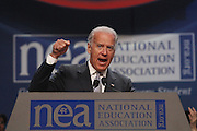 Vice President Joe Biden speaks at the 2011 NEA Representative Assembly in Chicago, Il. Scott Iskowitz/RA Today