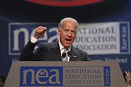 Vice President Joe Biden speaks at the 2011 NEA Representative Assembly in Chicago, Il. Scott Iskowitz/RA Today