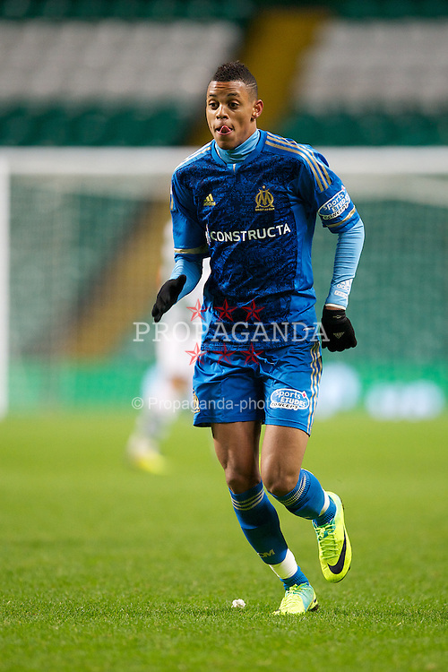 GLASGOW, SCOTLAND - Wednesday, December 7, 2011: Olympique de Marseille's Wesley Jobello in action against Glasgow Celtic during the NextGen Series Group 1 match at Celtic Park. (Pic by David Rawcliffe/Propaganda)