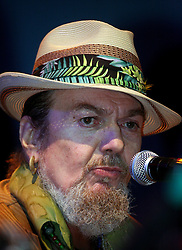 16 May 2010. New Orleans, Louisiana. <br /> Gulf Aid - a benefit festival for Louisiana fishermen and our coast.<br /> Dr John performs with the Preservation Hall Jazz band on the Wetlands indoor stage. <br /> Local musicians have gathered together in response to BP's massive oil spill in the Gulf of Mexico, threatening the very fabric of an entire region. All proceeds from the event will be used to support local fishing communities and the region.<br /> Photo credit; Charlie Varley/varleypix.com
