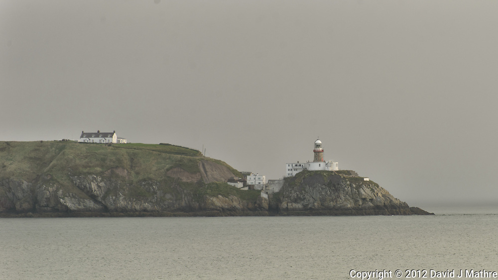 Bailey Lighthouse on a Misty Morning, Howth on Dublin Bay, Dublin Ireland. Image taken with a Nikon D800 and 70-300 mm VR lens (ISO 100, 300 mm, f/5.6, 1/125 sec)
