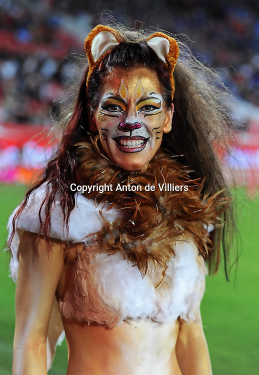 JOHANNESBURG, South Africa, 14 April 2012. The Lioness of Coca-Cola Park during the Super15 Rugby match between the Lions and the Bulls at Coca-Cola Park in Johannesburg, South Africa on 14 April 2012. The Bulls won this away game 32-18.<br /> Photographer : Anton de Villiers / SASPA