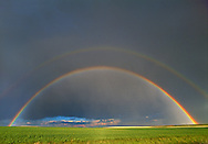 Wheat FIeld Rainbow, Cheyenne, Wyoming