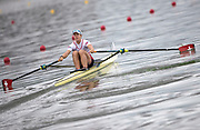 "Glasgow, Scotland, ""2nd August 2018"", Swiss Sculler, SUI W1X, Jeannine GMELIN, competing at the European Games, Rowing, Strathclyde Park, North Lanarkshire, © Peter SPURRIER/Alamy Live News"