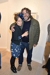 MATTHEW & PANDORA MERVYN-JONES at a private view entitled Stop Making Sense featuring work by Georgiana Anstruther and Carol Corell held at Lacey Contemporary, 8 Clarendon Cross, London on 9th March 2016.