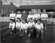 03/01/1954<br /> 01/03/1954<br /> 03 January 1954<br /> Soccer: Waterford F.C. v Drumcondra F.C., League of Ireland, at Tolka Park, Dublin. The Waterford team.