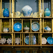 Freer Gallery of Art Peacock Room Display Items. Originally part of a London dining room and redecorated by American expatriat artist James McNeill Whistler, the Peack Room has been reinstalled as a room in the Freer Gallery of Art. The Freer Gallery of Art, on Washington DC's National Mall, joined the Arthur M. Sackler Gallery to form the Smithsonian Institution's Asian art gallery. The Freer Gallery contains a sizeable collection of Asian art, but also has a major collection of works by James McNeill Whistler.