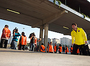 Lionel Messi arrives before the Champions League quarter final first leg game between Barcelona and Shaktar Donetsk at the Nou Camp, Barcelona, Spain, 5th April 2011