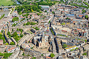 Nederland, Gelderland, Nijmegen, 09-06-2016; binnenstad Nijmegen. Stevenskerk en Sint Stevenskerkhof, Grote MArkt.<br /> <br /> Town of Nijmegen, inner city.<br /> luchtfoto (toeslag op standard tarieven);<br /> aerial photo (additional fee required);<br /> copyright foto/photo Siebe Swart