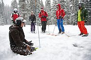 Alpine World Ascents AIARE Level I Course in Empire, CO. © Brett Wilhelm/Rich Clarkson and Associates, LLC