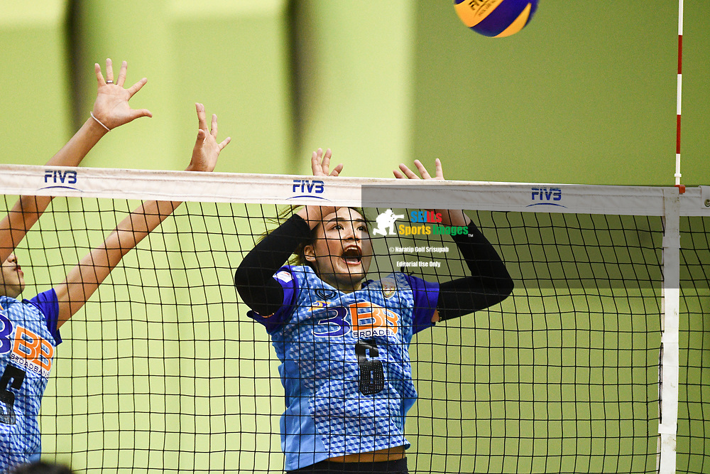BANGKOK, THAILAND - MARCH 24: Kuttika Kaewpin of 3BB Nakornont #6 in action during the 2017 Women's Volleyball Thai-Denmark Super League, MCC Hall The Mall , Bangkok, Thailand on March 24, 2017.<br /> .<br /> .<br /> .<br /> (Photo by: Naratip Golf Srisupab/SEALs Sports Images)<br /> .<br /> Any image use must include a mandatory credit line adjacent to the content which should read: Naratip Golf Srisupab/SEALs Sports Images