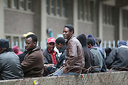 In 2011 South Africa had the largest number of asylum seekers in the world. The Department of Home Affairs has a backlog of over 70,000 cases on appeal. It  has since closed the Refugee Reception Offices in Cape Town, Port Elizabeth &amp; Johannesburg. This leaves most asylum seekers facing a journey across the country every three months to renew their permits. All three of the closures have been declared unlawful by the courts but nothing has been done about it.<br /> <br /> These photographs were taken outside the the Refugee Reception Office at Customs House in Cape Town as new arrivals and existing permit holders arrived for documentation. <br /> <br /> &copy;Zute Lightfoot / Legal Resources Centre
