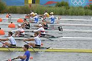 Eton Dorney, Windsor, Great Britain,..2012 London Olympic Regatta, Dorney Lake. Eton Rowing Centre, Berkshire[ Rowing]...Description;  Heat, Men's double Sculls: NZL M2X..Nathan COHEN (b) , Joseph SULLIVAN (s).ITA M2X   Alessio SARTORI (b) , Romano BATTISTI (s).GER.M2X Eric KNITTEL (b) , Stephan KRUEGER (s).AUS.David CRAWSHAY (b) , Scott BRENNAN (s).Dorney Lake..    12:20:05  Tuesday  31/07/2012.[Mandatory Credit: Peter Spurrier/Intersport Images].