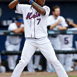 March 6, 2011; Port St. Lucie, FL, USA; New York Mets shortstop Jose Reyes (7) during a spring training exhibition game against the Boston Red Sox at Digital Domain Park. The Mets defeated the Red Sox 6-5.  Mandatory Credit: Derick E. Hingle