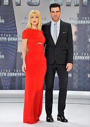 Alice Eve and Zachary Quinto during the premiere for the movie Star Trek Into Darkness, China Club, Berlin, Germany, on April 29, 2013, April 30, 2013. Photo by: Schneider-Press / i-Images. .UK & USA ONLY.