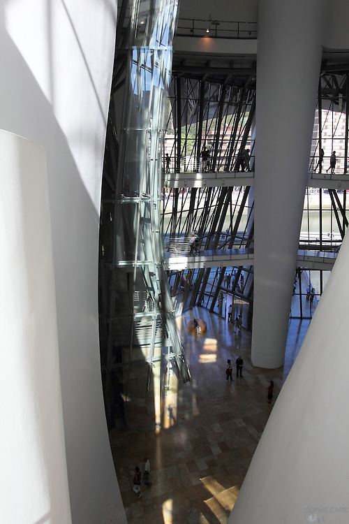 A view from the third level of the Frank Gehry designed Guggenheim museum in Bilbao