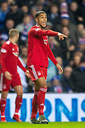 Max Lowe (#29) of Aberdeen FC during the Ladbrokes Scottish Premiership match between Rangers and Aberdeen at Ibrox, Glasgow, Scotland on 5 December 2018.