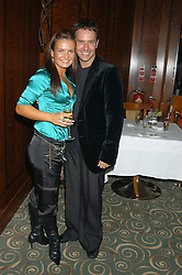 Dancers LILIA KOPYLOVA and DARREN BENNETT at a party to celebrate the publication of 'Next To You' - Caron's Courage remembered by her mother Gloria Hunniford held on Caron's birthday at The Hilton Park Lane, London on 5th Octobe 2005.<br />