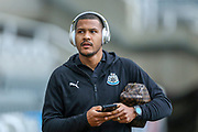Jose Salomon Rondon (#9) of Newcastle United arrives ahead of the Premier League match between Newcastle United and Watford at St. James's Park, Newcastle, England on 3 November 2018.