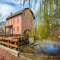 Photo of Deep River County Park grist mill in Northwest Indiana. The Wood's Grist Mill in Hobart Indiana was built by John Wood in the early 1800's.