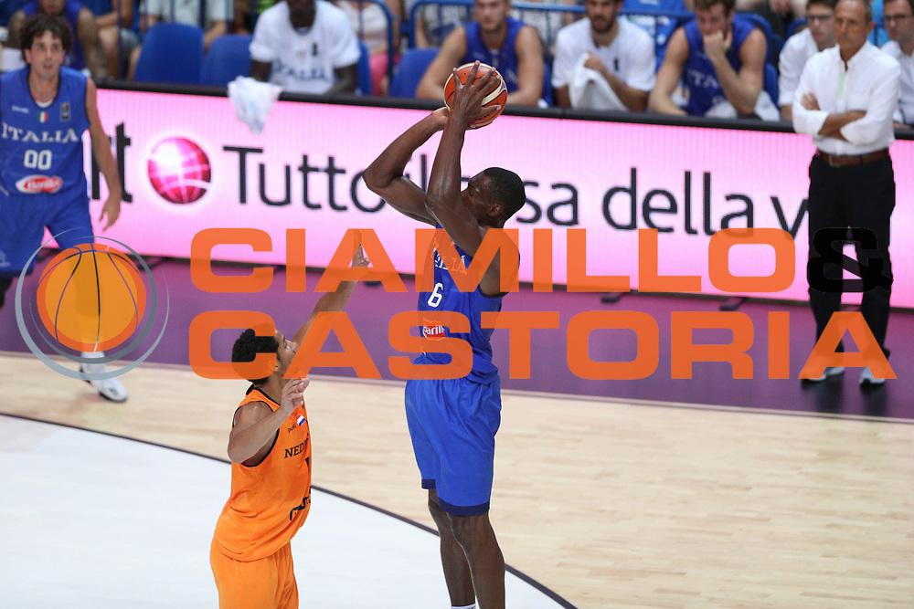 Paul Biligha<br /> Nazionale Italiana Maschile Senior - Trentino Basket Cup 2017<br /> Italia - Paesi Bassi / Italy - Netherlands<br /> FIP 2017<br /> Trento, 30/07/2017<br /> Foto Agenzia Ciamillo-Castoria