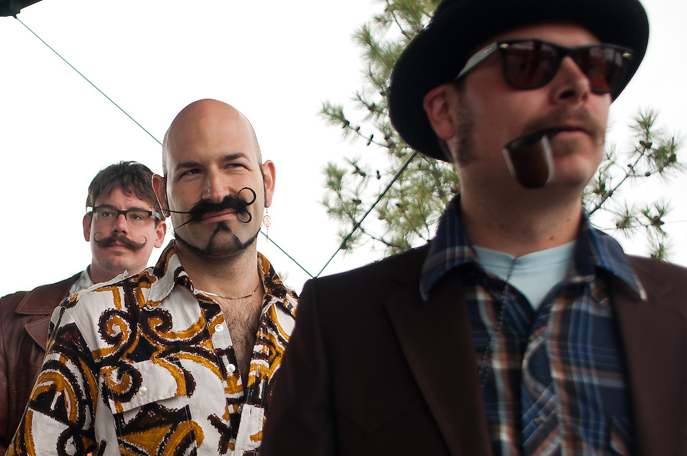 Contestants at the National Beard and Mustache Championships in Bend, Oregon in 2010.