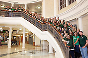Student Tour Guides take a group portrait in the Baker Center at Ohio University in Athens, Ohio on Monday, January 14, 2013. Photo by Chris Franz