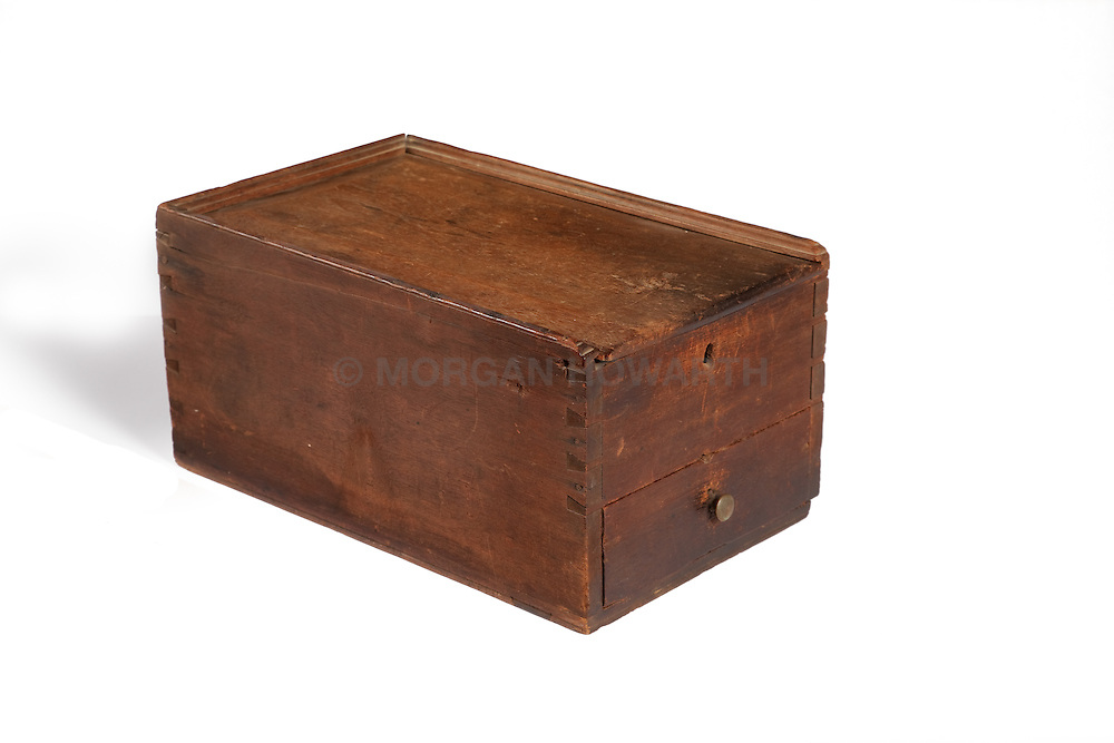 Antique blanket chest Walnut Candle Box