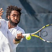 August 20, 2016, New Haven, Connecticut: <br /> Evan King in action during a US Open National Playoffs match at the 2016 Connecticut Open at the Yale University Tennis Center on Saturday, August  20, 2016 in New Haven, Connecticut. <br /> (Photo by Billie Weiss/Connecticut Open)