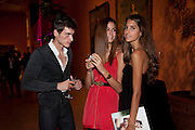 FONSE ALCARAE; SORAYA MOUSSAOUI; IRENE PANIAGUA, Mario Testino exhibition.  Hosted by Vanity Fair Spain and Lancome. Thyssen-Bornemisza Museum (Paseo del Prado 8, Madrid.20 September 2010.  -DO NOT ARCHIVE-© Copyright Photograph by Dafydd Jones. 248 Clapham Rd. London SW9 0PZ. Tel 0207 820 0771. www.dafjones.com.