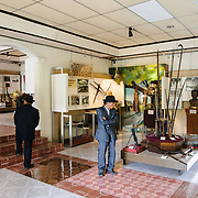 A dated exhibit room in the Vietnam Military History Museum. The museum was opened on July 17, 1956, two years after the victory over the French at Dien Bien Phu. It is also known as the Army Museum (the Vietnamese had little in the way of naval or air forces at the time) and is located in central Hanoi in the Ba Dinh District near the Lenin Monument in Lenin Park and not far from the Ho Chi Minh Mausoleum.
