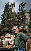 Jim Bishop discusses his lifelong project and politics at his attraction along CO 165. Bishop Castle is a landmark attraction built over decades by the eccentric Bishop.