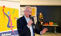 DEN HAAG - Paul de Ruijter (r) , hoofd KNHB Academie.. KNHB Technisch Kader Congres ' Coach the game' bij EY in Den Haag. FOTO KOEN SUYK