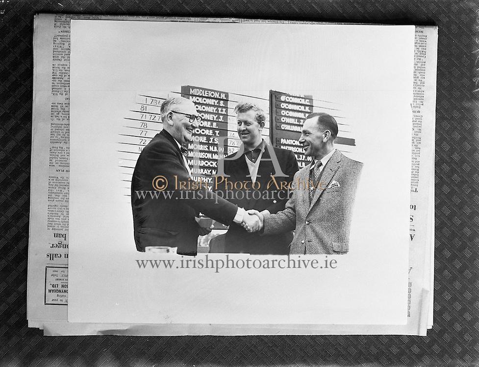 Copy Print of Three Bookies  for Wood Printing Works<br /> 14/10/1958