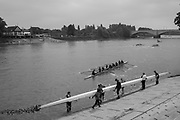Mortlake/Chiswick. Greater London. London. 2017 Bourne Regatta At Chiswick Bridge. Course, Runs from and to Mortlake Anglian and Alpha Boathouse, dependent on the Tide Direction. Chiswick.  River Thames. <br /> <br /> General view, Putney Town athletes,  boating.<br /> <br /> Saturday  06/05/2017<br /> <br /> [Mandatory Credit Peter SPURRIER/Intersport Images]