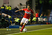 Middlesbrough midfielder Stewart Downing (19)  during the EFL Sky Bet Championship match between Sheffield Wednesday and Middlesbrough at Hillsborough, Sheffield, England on 19 October 2018.