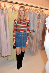 EVIE HENDERSON at a party to celebrate the re-launch of the Ghost Flagship store at 120 King's Road, London on 15th April 2015.