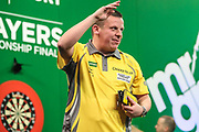 Dave Chisnall beats Joe Muran in the 1st round during the PDC Darts Players Championship at  at Butlins Minehead, Minehead, United Kingdom on 24 November 2017. Photo by Shane Healey.