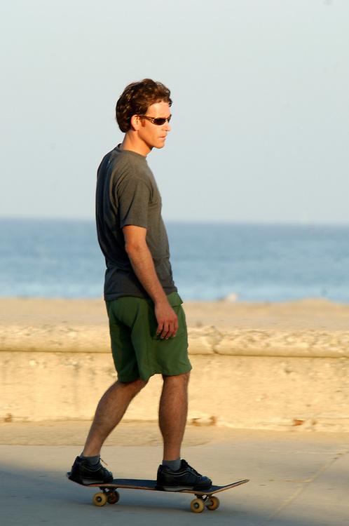 Skate Boarder at Waterfront, Santa Barbara, California, United States of America