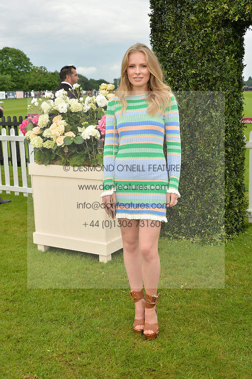 CLEMENTINE NICHOLSON at the Cartier Queen's Cup Final 2016 held at Guards Polo Club, Smiths Lawn, Windsor Great Park, Egham, Surry on 11th June 2016.
