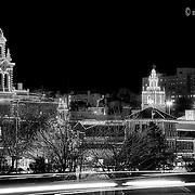 Nighttime photo of Plaza Lights, Kansas City, Missouri.
